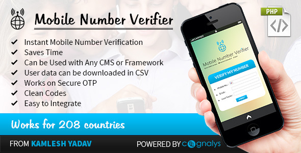 CodeCanyon] Mobile Number Verifier PHP Script free download